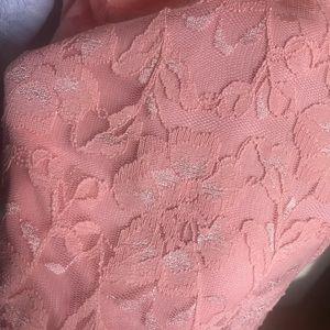 Dress- peach lace